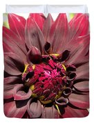Dahlia Named Black Wizard Duvet Cover