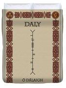 Daly Written In Ogham Duvet Cover