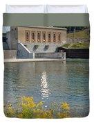 Dam Reflection Duvet Cover