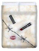Dangerous Kisses Duvet Cover