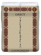 Darcy Written In Ogham Duvet Cover