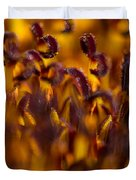 Bordeaux Red Stamens Duvet Cover