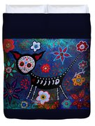 Day Of The Dead Chihuahua Duvet Cover