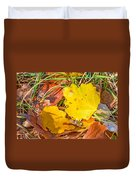 Dead Poplar Leaves Duvet Cover