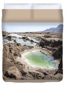 Dead Sea Sinkholes  Duvet Cover by Eyal Bartov