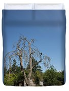 Dead Tree With Crow Duvet Cover
