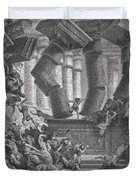 Death Of Samson Duvet Cover by Gustave Dore