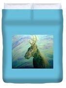 Deer At Home Duvet Cover