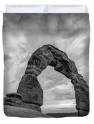 Delicate Arch Bw Duvet Cover