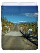 Denali Highway, Route 8, Bridge Crosses Duvet Cover