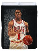 Derrick Rose Duvet Cover