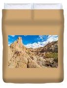 Desert And Blue Sky Duvet Cover