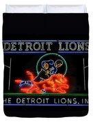 Detroit Lions Football Duvet Cover