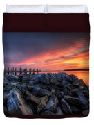 Dewey Beach Sunset Duvet Cover
