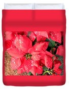 Diamond Encrusted Poinsettias Duvet Cover