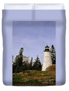 Dice Head Lighthouse Duvet Cover