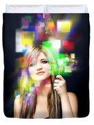 Digital Future Of Business Communication Duvet Cover