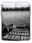 Dock At Island Lake Duvet Cover