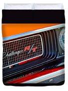 Dodge Challenger Rt Grille Emblem Duvet Cover