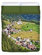 Dolomiti - Laste Village Duvet Cover