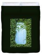 Door Framed By Plants Duvet Cover