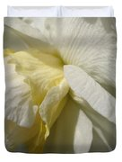 Double Daffodil Named White Lion Duvet Cover