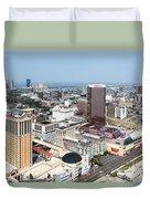Downtown Atlantic City Duvet Cover