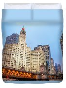 Downtown Chicago View Duvet Cover