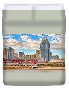Downtown Cincinnati Pano1 Duvet Cover