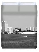 Downtown Clearwater Skyline Duvet Cover