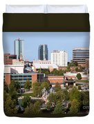 Downtown Knoxville Tennessee Skyline Duvet Cover