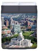 Downtown Providence Rhode Island Duvet Cover