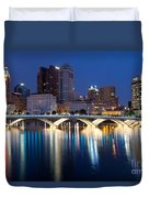 Downtown Skyline Of Columbus Duvet Cover