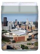 Downtown Skyline Of St. Paul Minnesota Duvet Cover