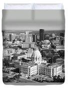 Downtown Skyline St. Paul Minnesota Duvet Cover