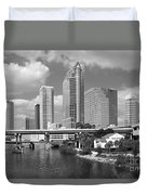 Downtown Tampa Skyline From Davis Islands Duvet Cover
