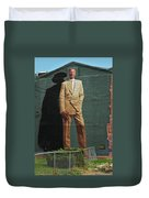 Dr. J. Duvet Cover by Allen Beatty