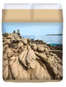 Dramatic Lava Rock Formation Called The Dragon's Teeth In Maui. Duvet Cover