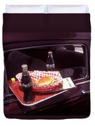 Drive-in Coke And Burgers Duvet Cover