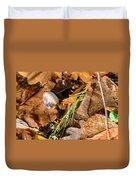 Dry Acorn And Oak Leaves Duvet Cover