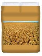 Dry Cracked Earth Duvet Cover