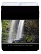 Dry Falls North Carolina Duvet Cover