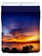 Dry Season-sunset Duvet Cover