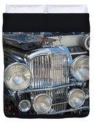 Duesenberg Front Chrome Automobile Grille Duvet Cover