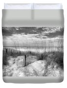 Dune Fences Duvet Cover by Debra and Dave Vanderlaan