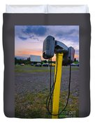 Dusk At The Drive In Movie Duvet Cover