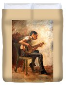 Eakins' Study For Negro Boy Dancing -- The Banjo Player Duvet Cover