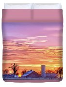 Early Country Morning Sunrise Duvet Cover