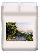 Early Morning Sunrise Over Blue Ridge Mountains Duvet Cover