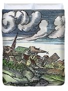 Earthquake, 1550 Duvet Cover